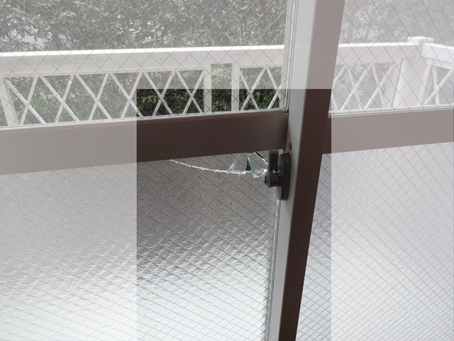 網入りガラスの侵入窃盗事件2