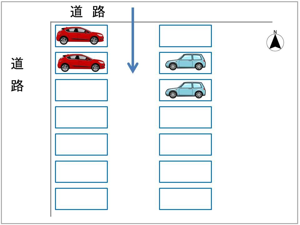 ワールドビル駐車場配置図