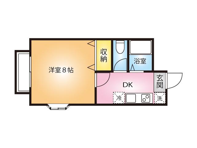 日進セントラルハイツⅠ角部屋間取り図(106号室)
