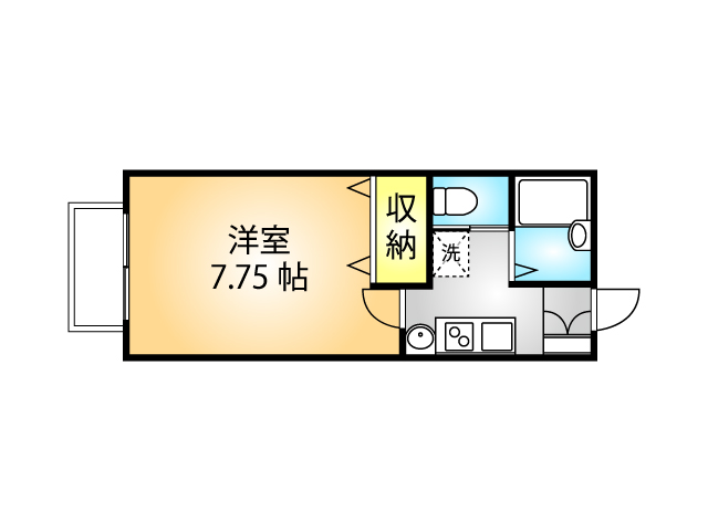 ビューテラスの間取り図(105号室)