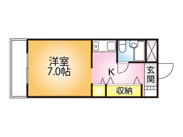 ジュネスコダマ206号室間取り図