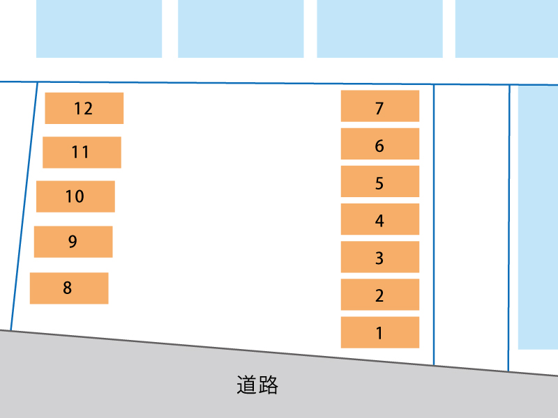 備後西4丁目月極駐車場 配置図