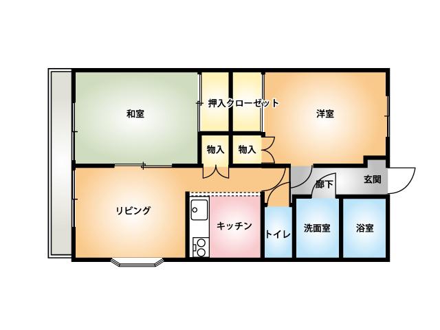 グレイスOJIMA-B202 間取り図